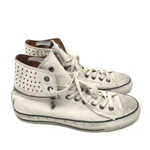John Varvatos Converse Shoes Zip Off Hi Top Stud